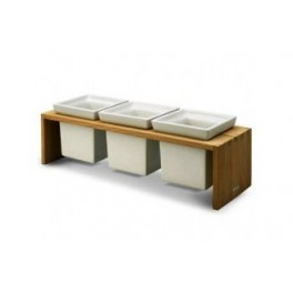 Skagerak Plint 3 Herb Pot Display, Oak